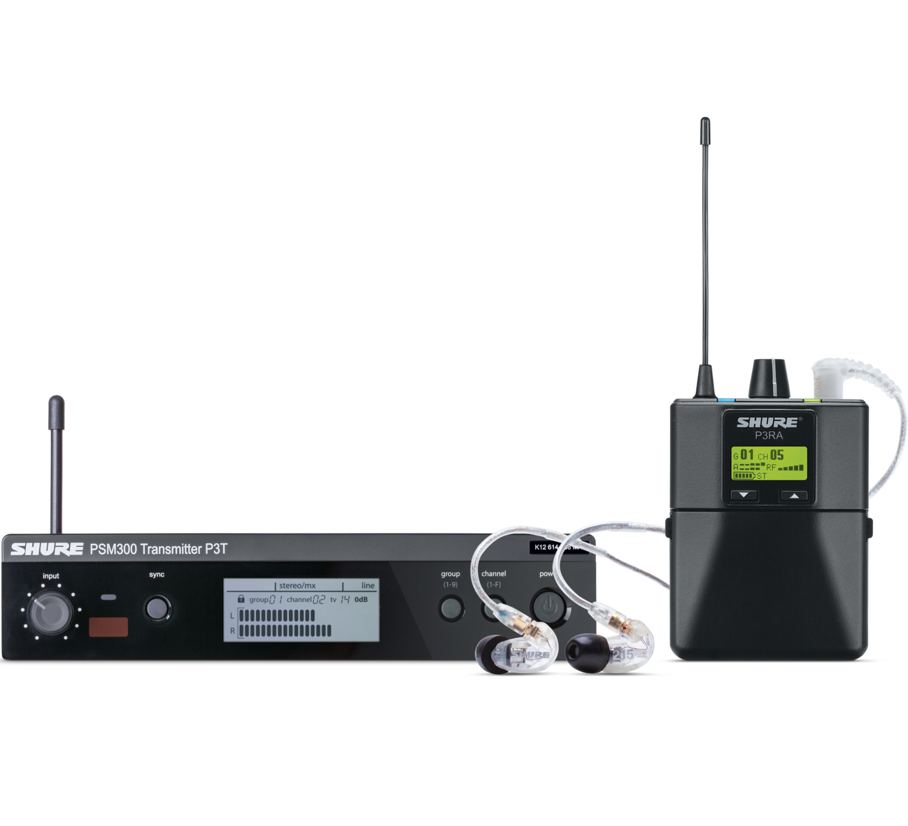 PSM 300 Stereo UHF In Ear Monitor System with P3RA receiver and SE 215 In Ear Monitors