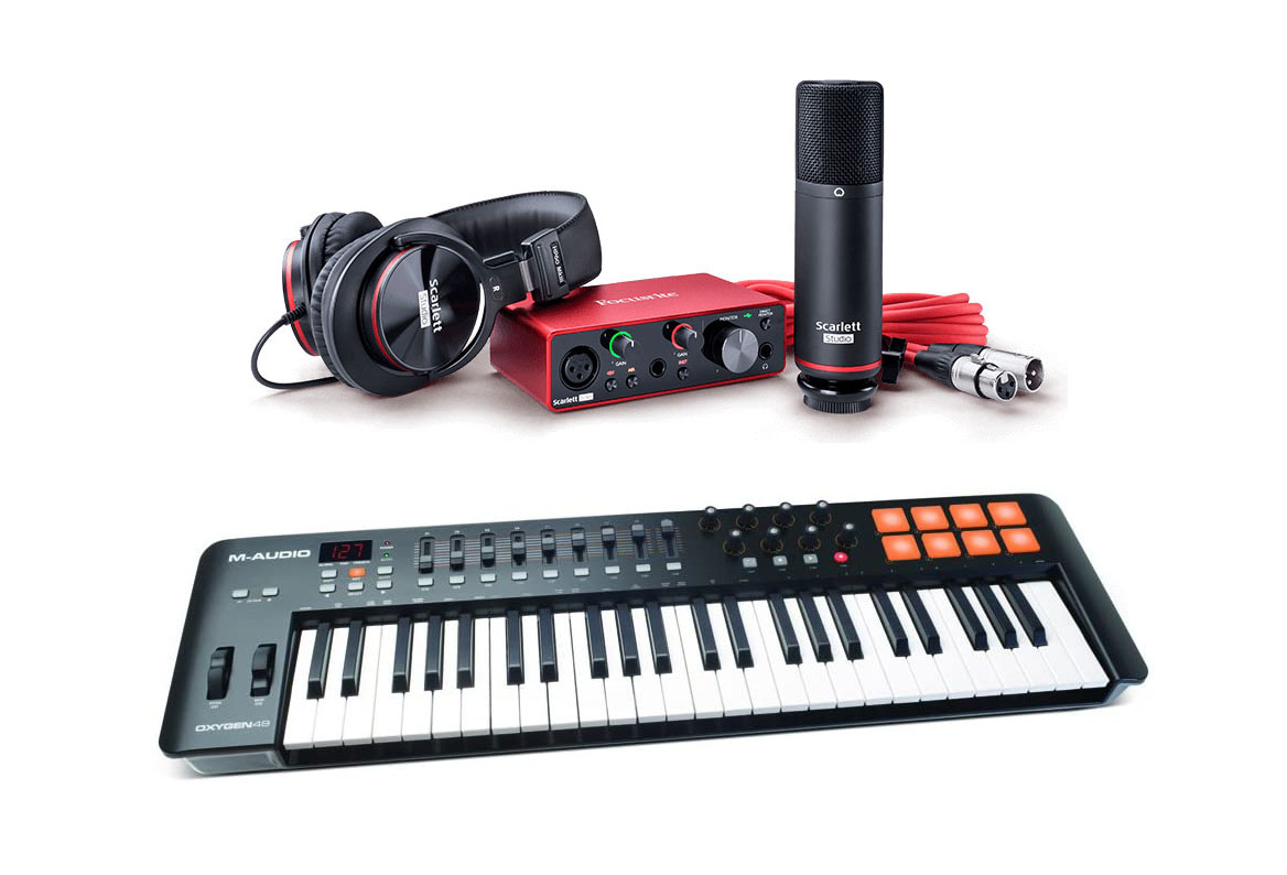 Scarlett Solo Studio Pack (3nd Gen) + M-Audio Oxygen 49 (4th gen)