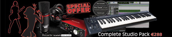 Scarlett Solo Studio Pack (2nd Gen) + M-Audio Keystation 49 II